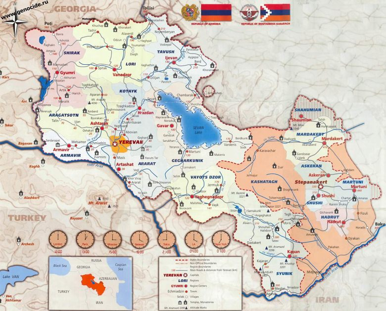 Maps of Armenia and NKR