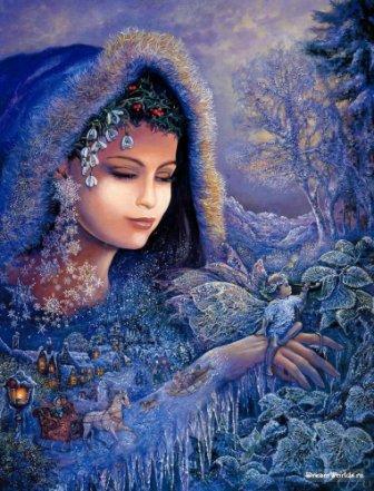 Схема Дух зимы ,Heaven & Earth Designs,Схемы для вышивки крестом,Печатная продукция,эльфы, феи,.  Рукоделие.