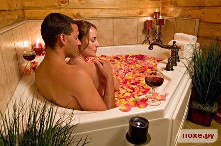 Секс в ванной с розами и свечами видео фото 638-79