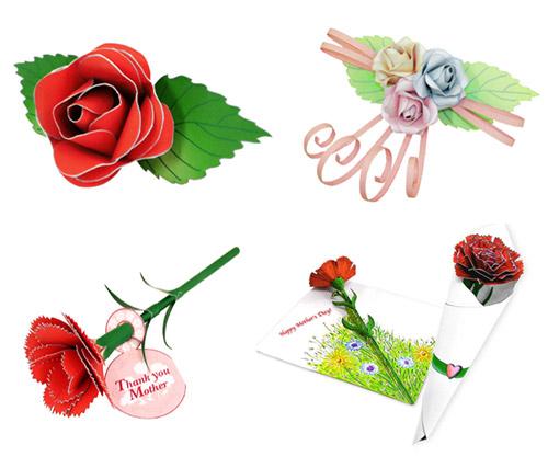 Выкройка цветов из фетра.