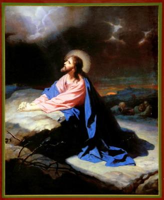 распят и умер на Кресте,