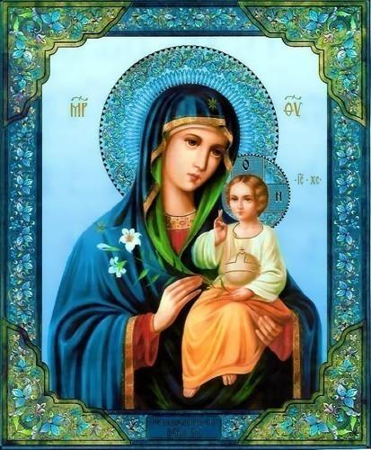 """С Днем Рождения.  Очень символично, что родилась ты в день праздника в честь иконы Божией Матери  """"Неувядаемый Цвет """"."""