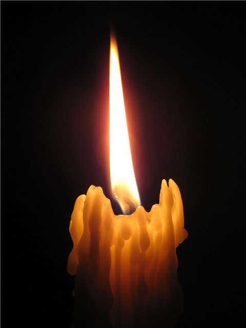 Огонь свечи фото