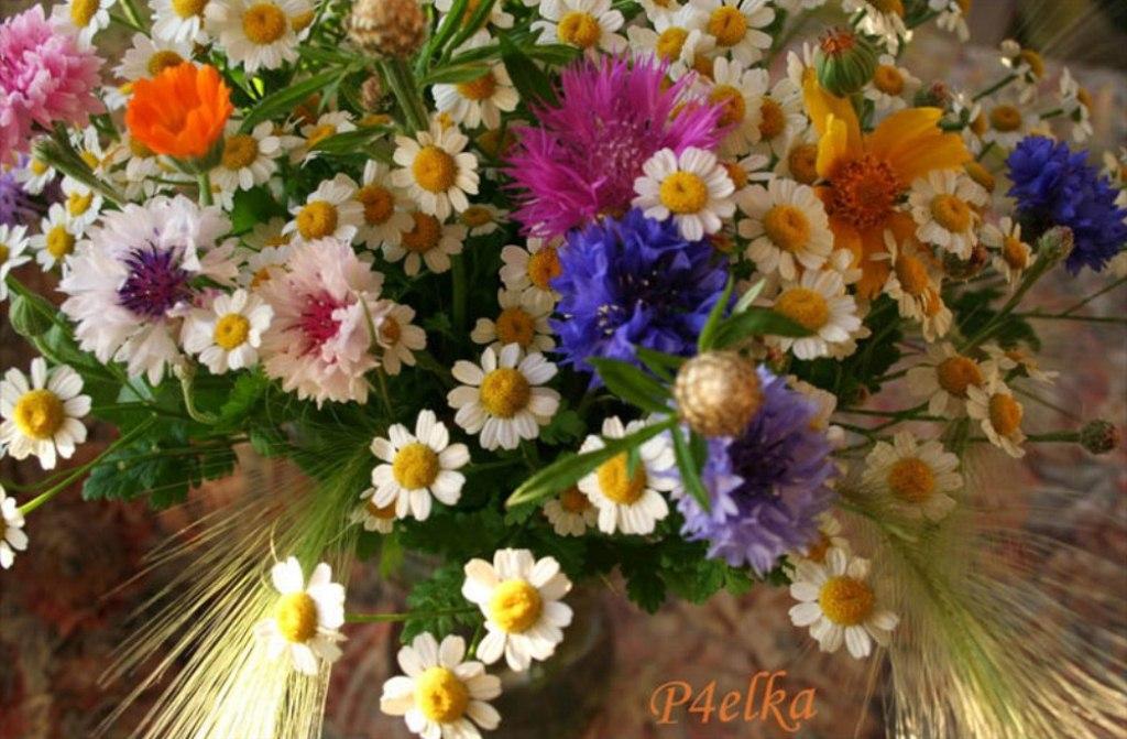 Букет цветов в день рождения