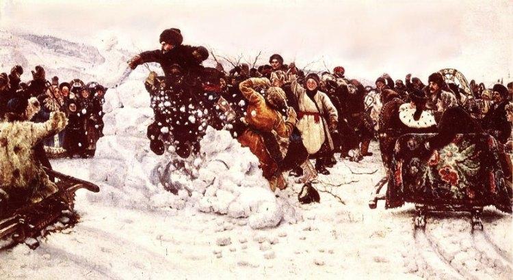 В суриков взятие снежного городка