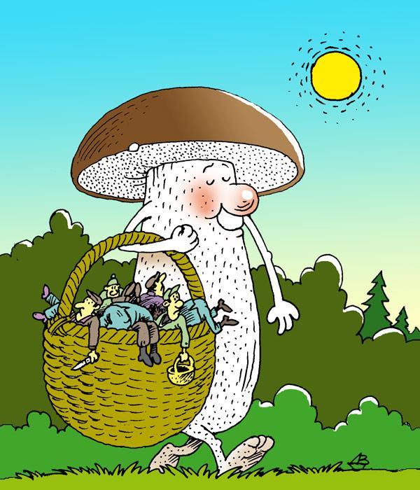 картинки смешные лес грибы билеты