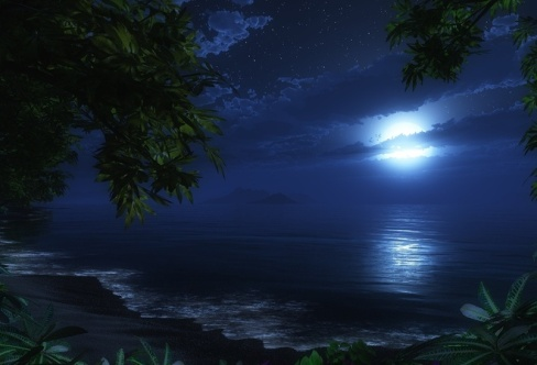 картинки ночью море