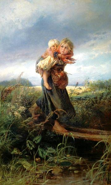 Константин маковский дети бегущие от