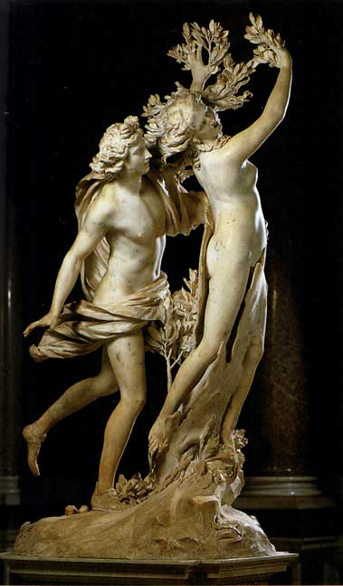 apollo and daphne by bernini Gian lorenzo bernini apollo and daphne, widely admired since bernini's day, expresses drama and also a conceit bernini was also an accomplished architect.