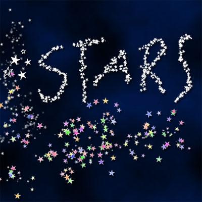 Кисть для фотошопа - Звездная россыпь.  Вес - 0,09 мб.  Звезды, космос.