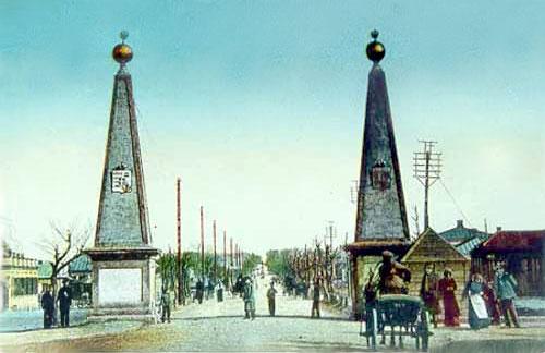 Так выглядели символические ворота Таганрога.
