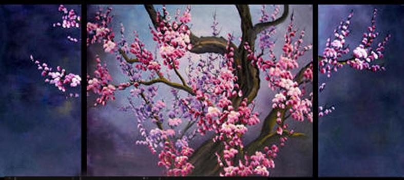 Картинки триптих цветы 8