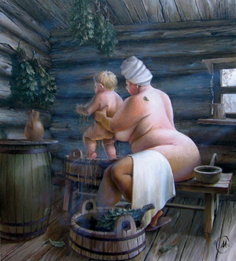 Русскую девку в бане 11 фотография