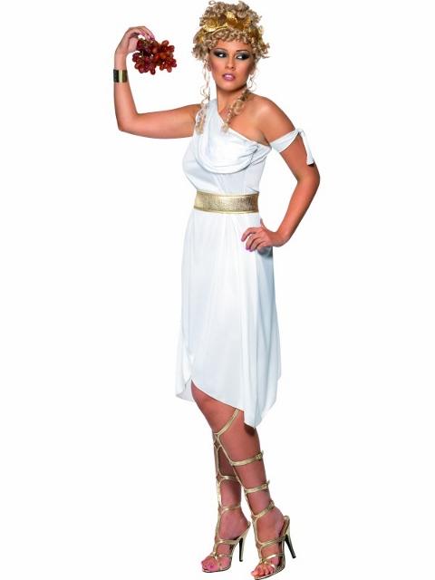 Костюм греческой богини, белый, платье.