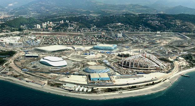 Прибрежный кластер Олимпиады 2014 года в Сочи.  На территории парка располагаются главные спортивные объекты...