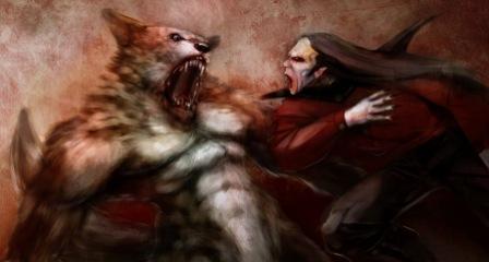картинки вампиры и оборотни