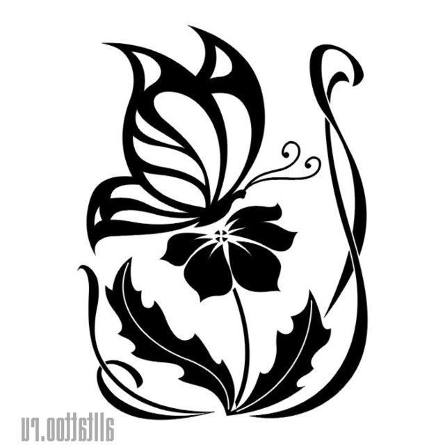 """Оригинал схемы вышивки  """"Бабочка на цветке """" ."""