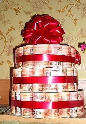 Тортики из денег своими руками