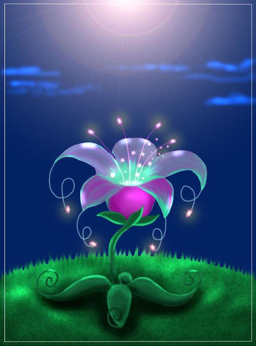 сказочного картинки цветка