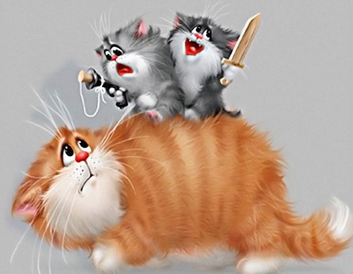 Кошка рисунки прикольные, картинки двигателями телевизоры