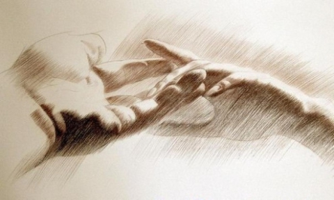 Рукой своей руки твоей касаюсь