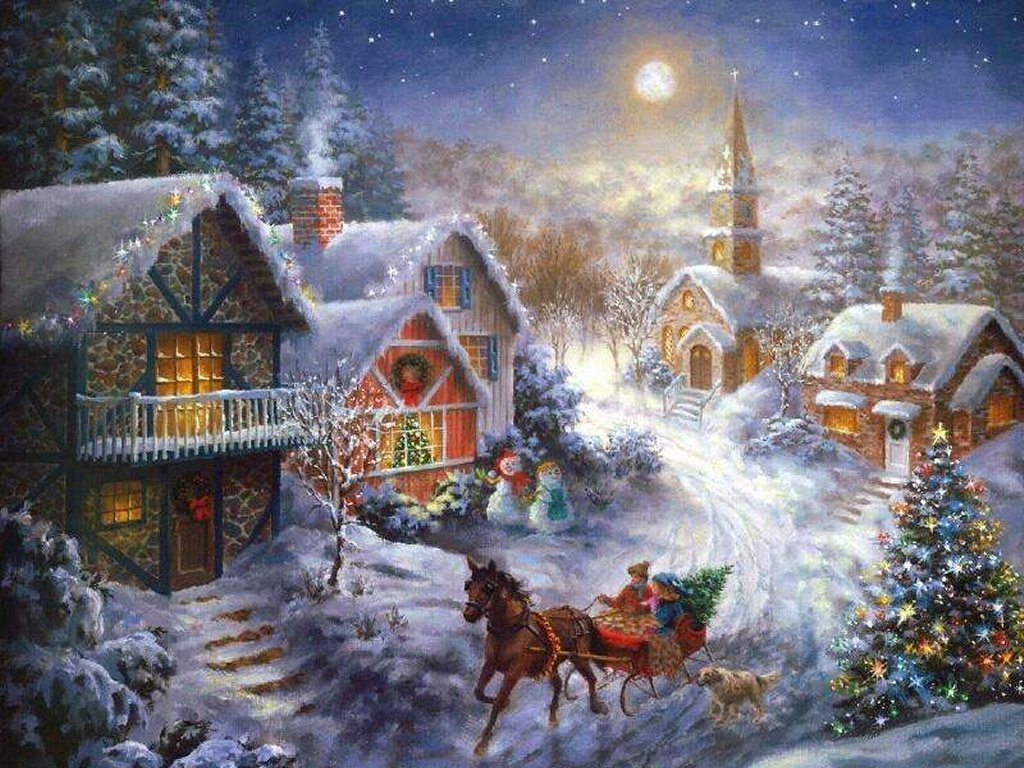 Открытки к рождеству и новому году на русском, музыкой любимому человеку