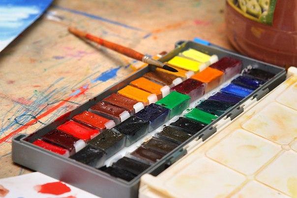 картинка краски акварельные