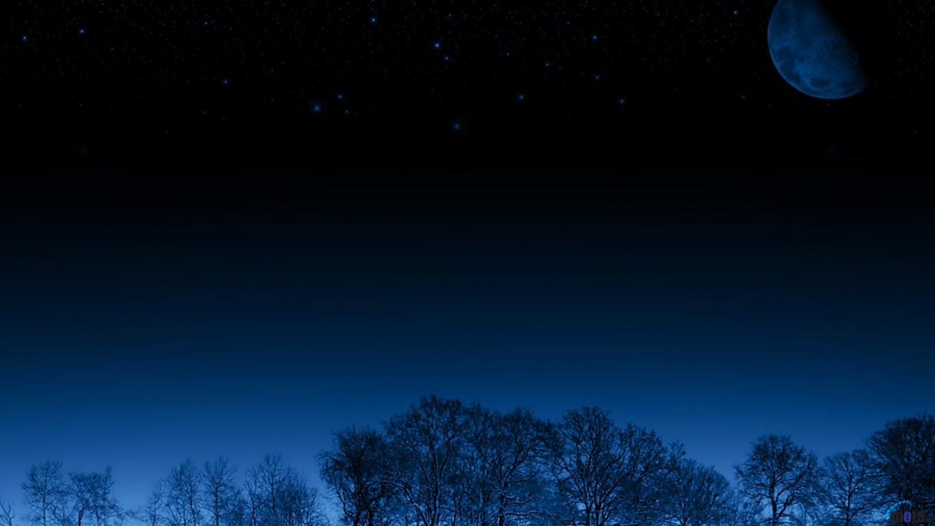 Night Sky Stars Background Psdgraphics - HD 1366×768