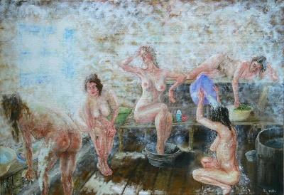 Бабули в бане