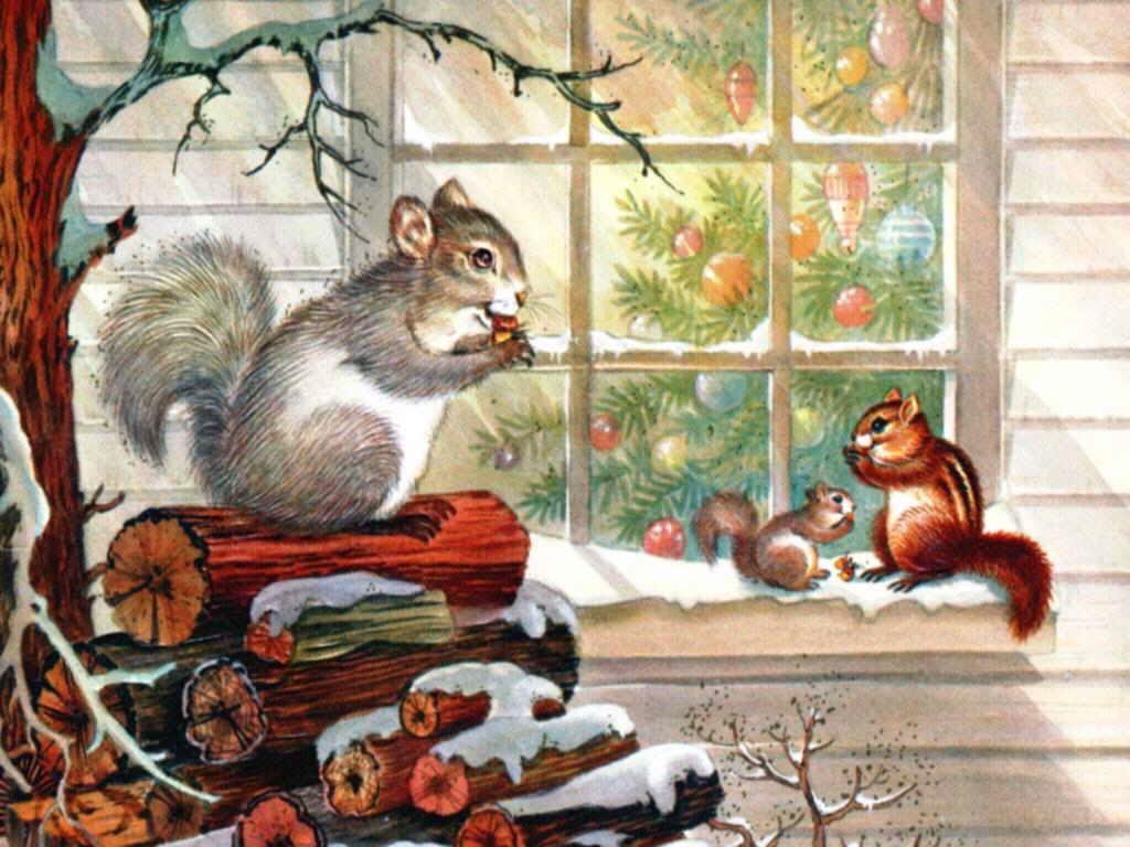 Новогодние открытки с белочкой, днем рождения пять