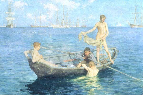 купались в лодке