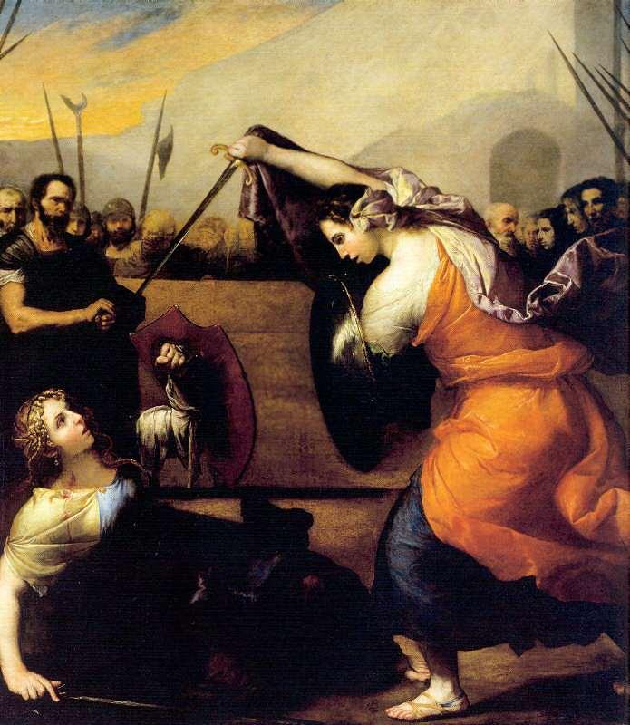 "картина Хосе де Риберу ""Женская Дуэль"""