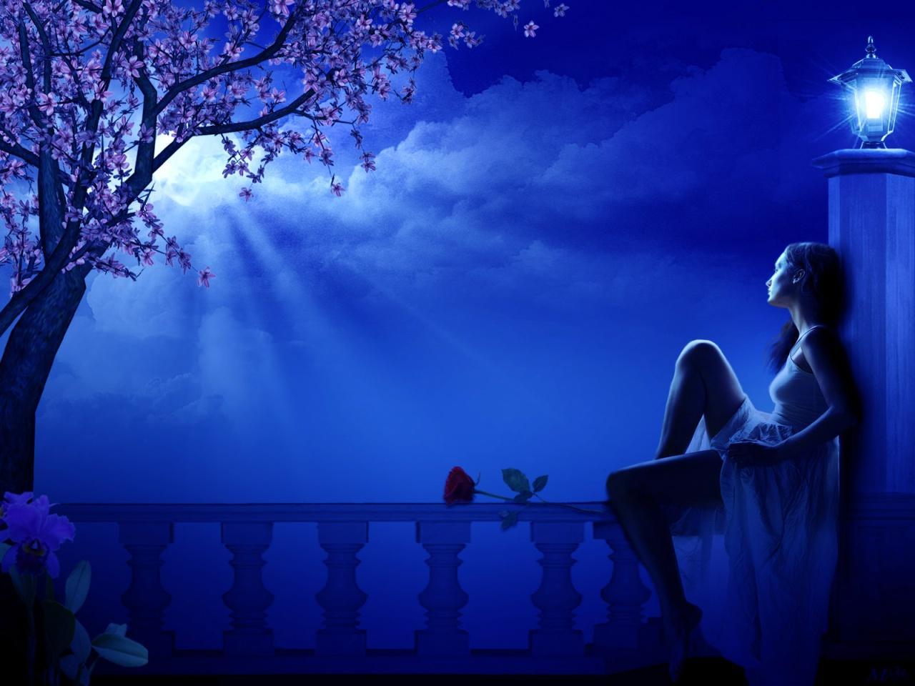 Ночь летняя фото девушки