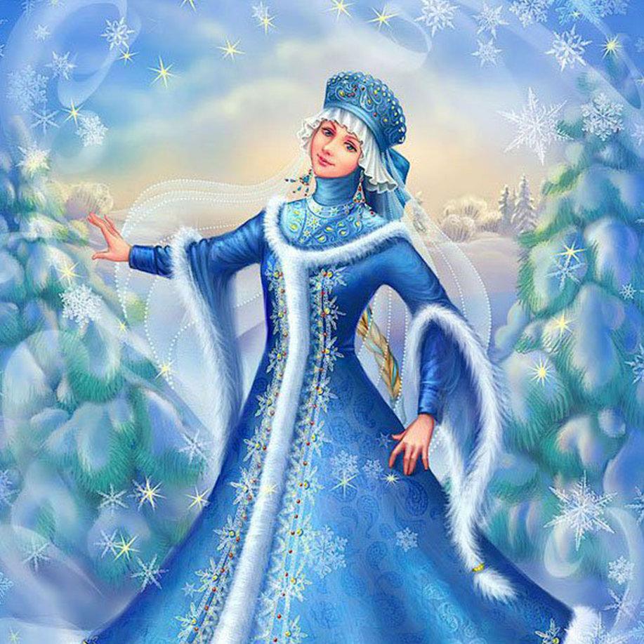Снегурочки для открыток, марта белые