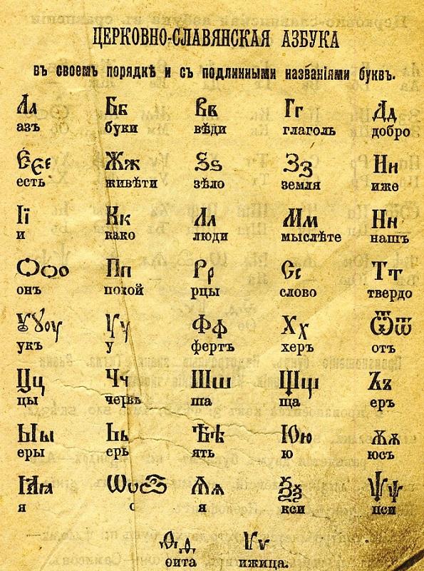 Картинки древнерусский алфавит