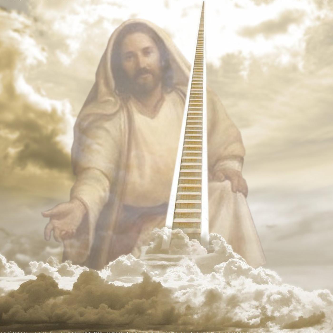 Дню рождения, открытка бог на небесах