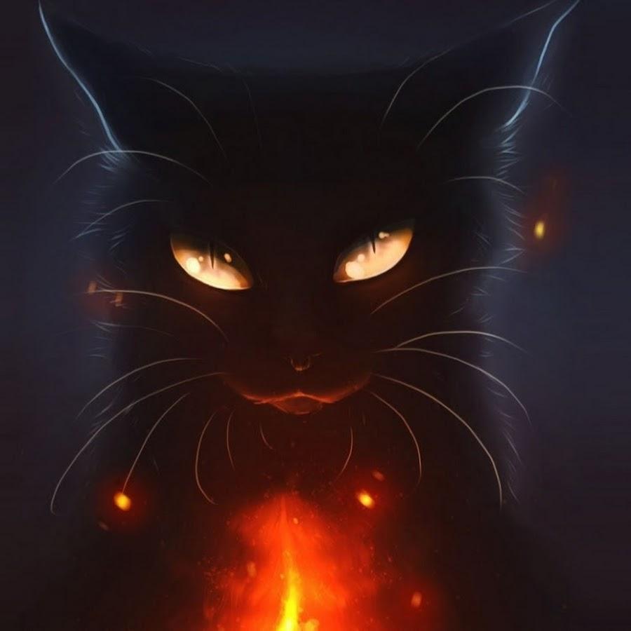 Картинки на аву черная кошка