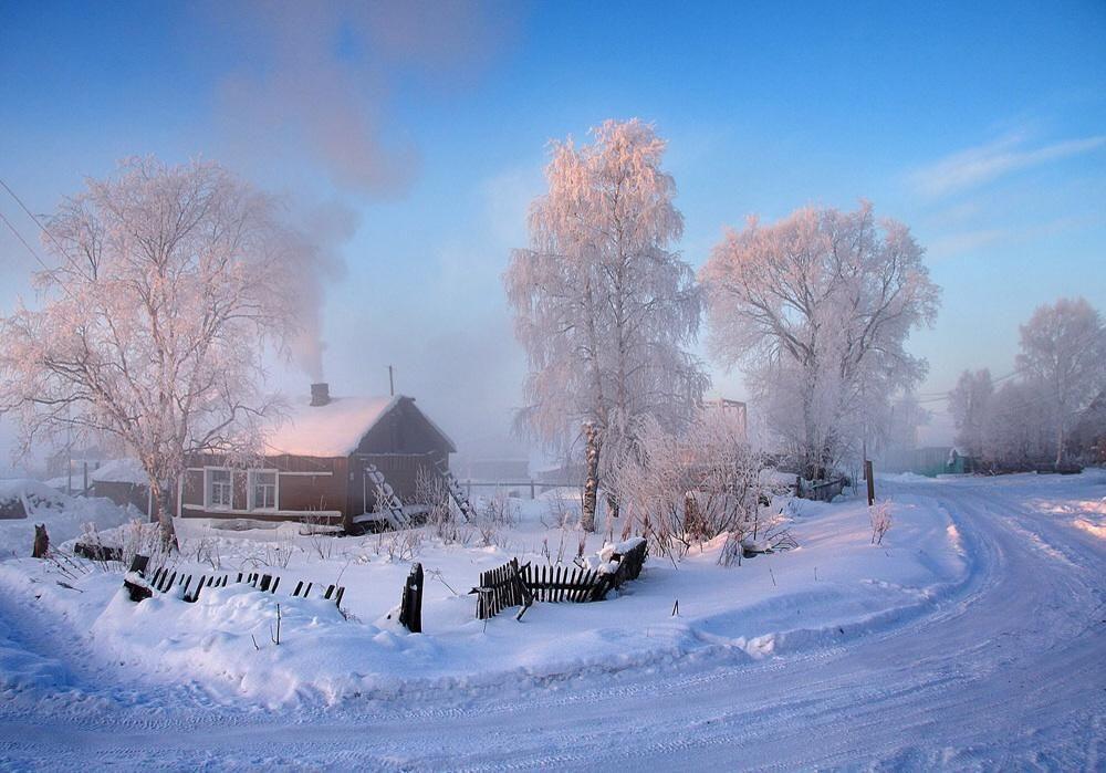 владельцы устройств зимний пейзаж в деревне фото вкусное