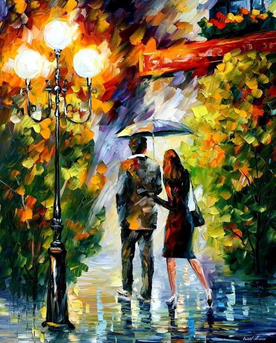 рисунки двое под зонтом