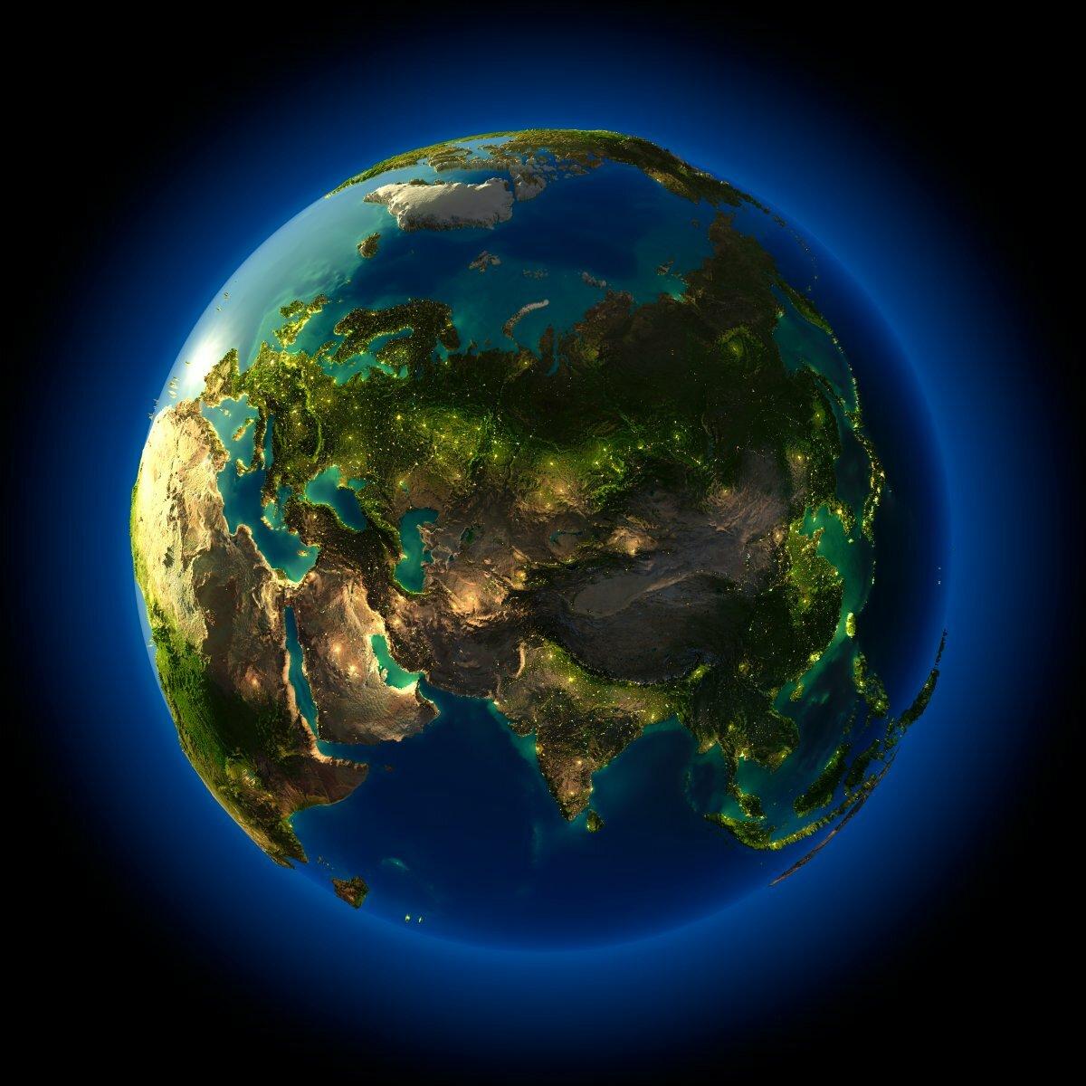 земной шар фото из космоса этом одна тканей
